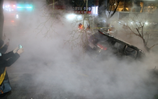 1 dead, 22 injured after hot water pipe bursts near Baekseok Station in Ilsan