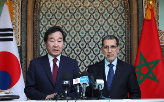 PMs of Korea, Morocco hold third talks of year to discuss closer cooperation