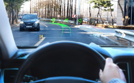 Hyundai unveils world's first holographic AR navigation system
