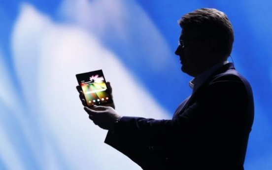 [CES 2019] Samsung Electronics exclusively showcases foldable phone to customers at CES 2019