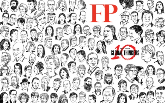 Moon Jae-in makes Foreign Policy's list of 100 global thinkers for two consecutive years
