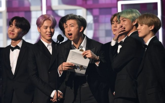 BTS makes historic Grammys debut