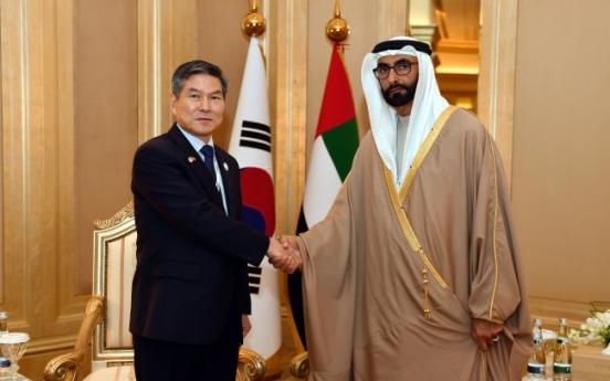 Defense chiefs of Korea, UAE discuss military ties, cooperation