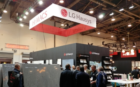 LG Hausys showcases new premium surfaces at trade show