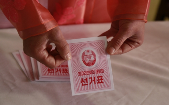 North Korea holds rubber-stamp election to determine Assembly representatives
