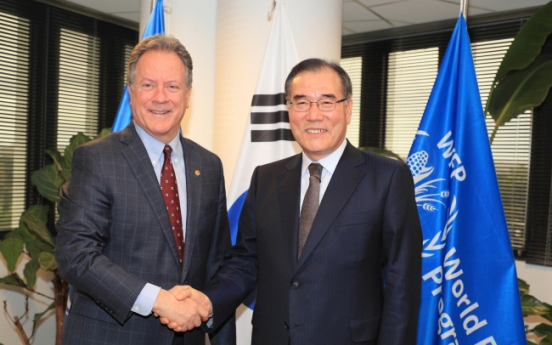 S. Korea recognized by WFP for transforming from recipient to donor