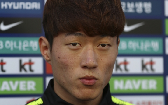 S. Korean striker vows to show finisher's instinct vs. Colombia