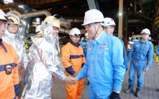 Posco chairman visits plants in Southeast Asia