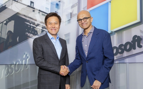 [Photo News] SKT, Microsoft sign MOU on ICT partnership