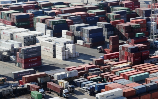 South Korea's exports shrink for fifth straight month