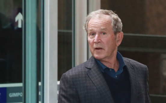 Bush in S. Korea for former President Roh's death anniversary