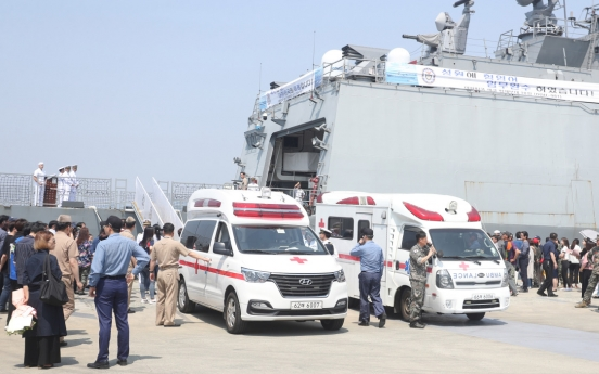 [Newsmaker] One Navy officer dead, four injured in accident involving destroyer docked at port