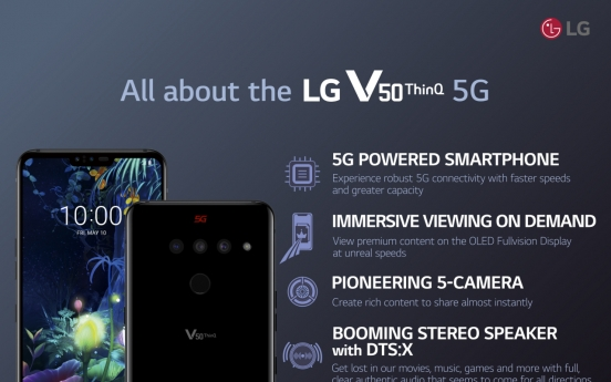 LG V50 ThinQ leads Korea's 5G smartphone market