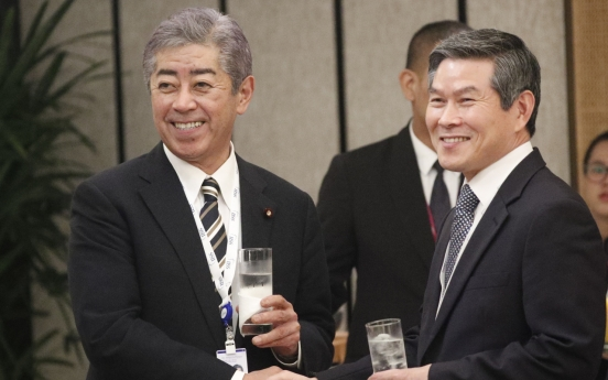 S. Korean, Japanese defense ministers hold first one-on-one talks since radar row