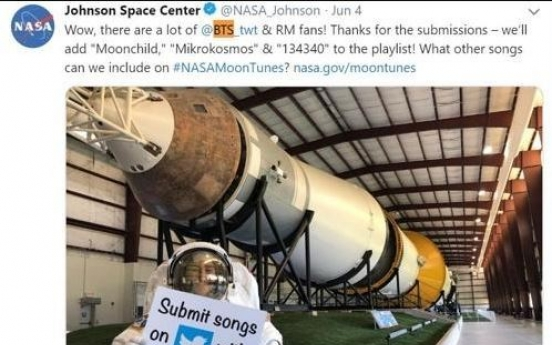 BTS songs to hit playlist of NASA's next lunar journey