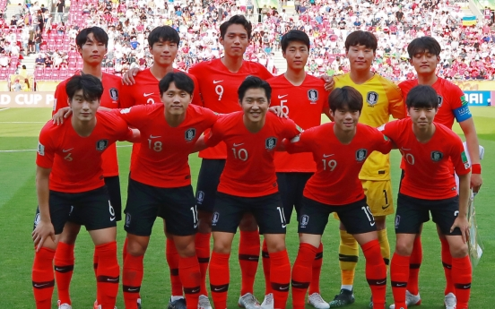 Moon says he's proud of S. Korea's U-20 World Cup team