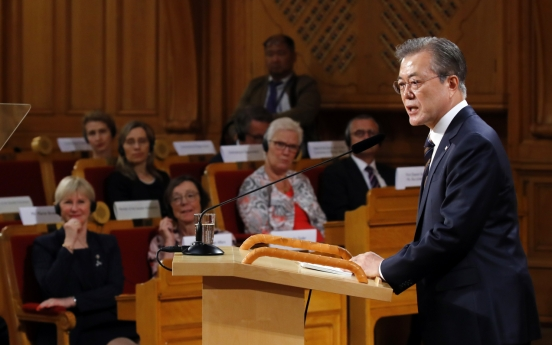 [News Focus] Moon returns to mounting speculations about NK dialogue