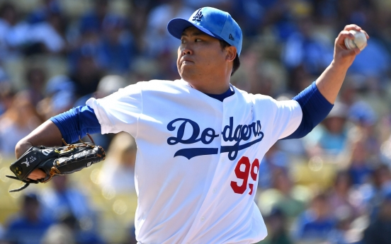 Dodgers' Ryu Hyun-jin settles for 2nd straight no-decision