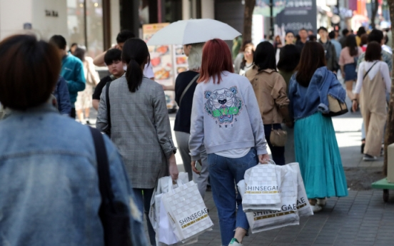 Average spending by foreign tourists to Korea tumbles in Q1