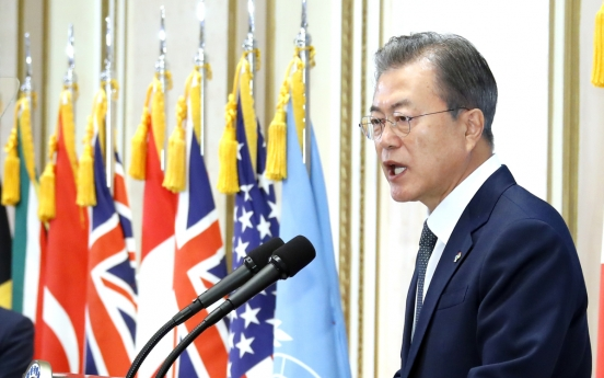 Dismantling Yongbyon is irreversible advance in NK's denuclearization: Moon