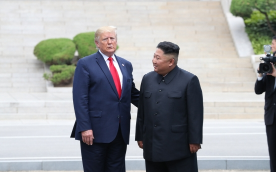 [Photo News] Photo News: Trump meets Kim Jong-un at Panmunjom, inter-Korean border village