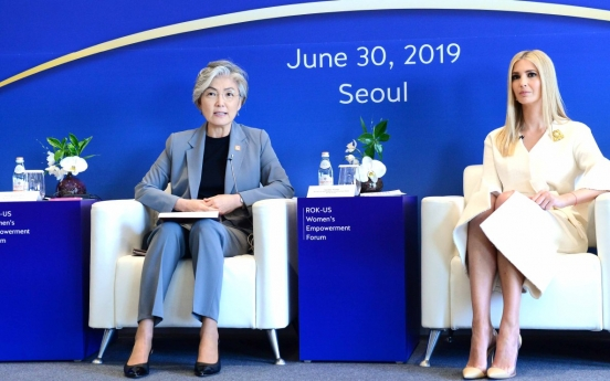 [Newsmaker] Minister Kang, Ivanka Trump stress women's role in economy, peacebuilding