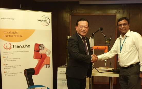Hanwha partners with Indian tech giant for collaborative robots