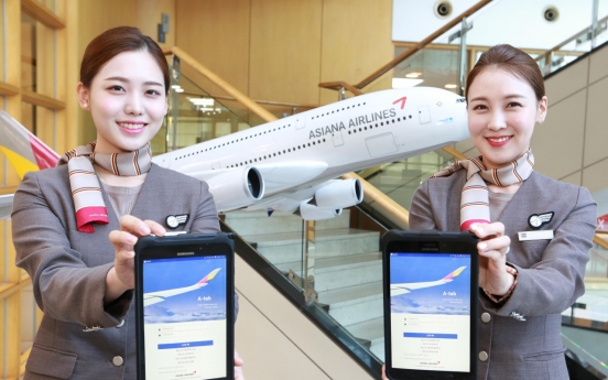 Asiana adopts smart work platform for cabin crew