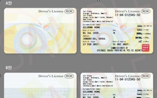 Driver's license to include English info