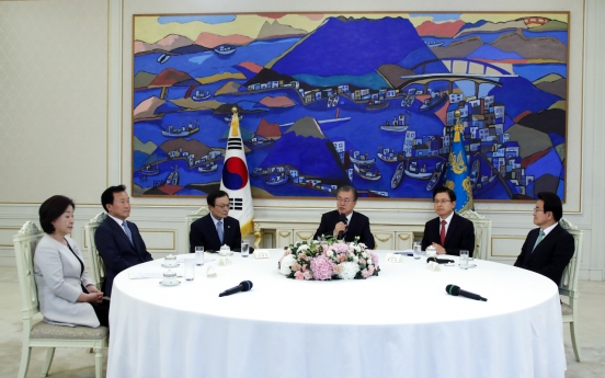 Moon, party leaders vow to work together to deal with Japan's economic reprisal