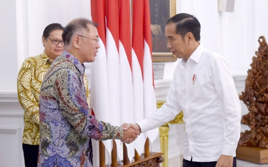 Hyundai Motor chief meets Indonesian leader for future investments