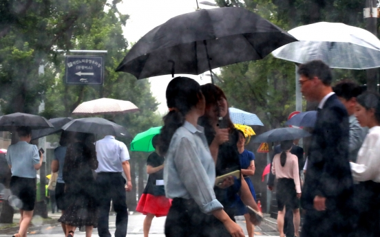 Heavy rain warnings issued in central regions, downpour in store for weekend