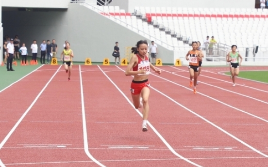 양예빈, 한국 여자 400m 중학생 기록 29년 만에 경신…55초29 (종합)