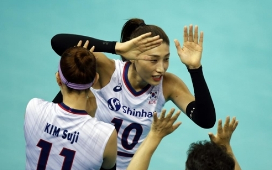 '김연경 13점' 한국, 女배구 올림픽 예선서 멕시코에 3-0 완승