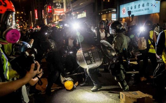 South Korean man arrested in Hong Kong on suspicion of illegal protest