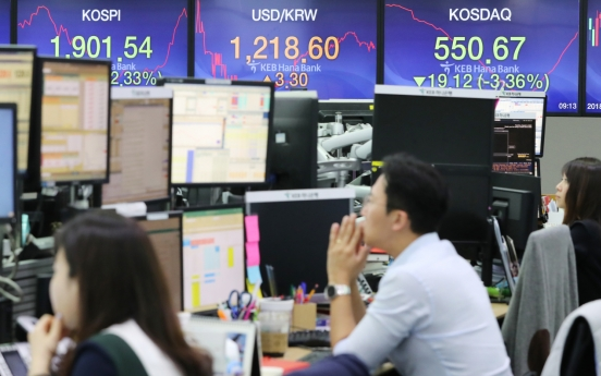 Kospi dips under 1,900 for first time in 3 years