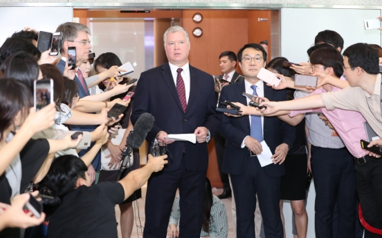 US ready to resume talks with NK: Biegun