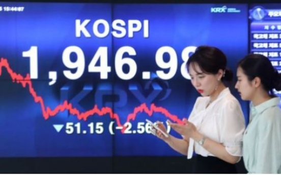 [News Focus] Kospi loses more than 100 points in a month