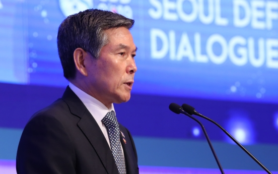 Defense chief vows strong military power to ensure peace