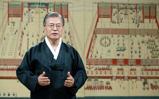 Moon wishes for 'fair country' in Chuseok message