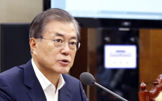 Moon stresses supporting US-NK dialogue