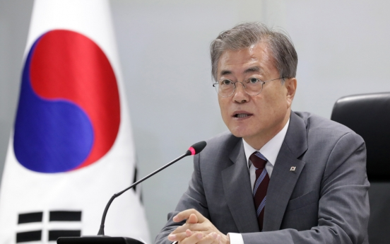 Moon's approval rating at its lowest point