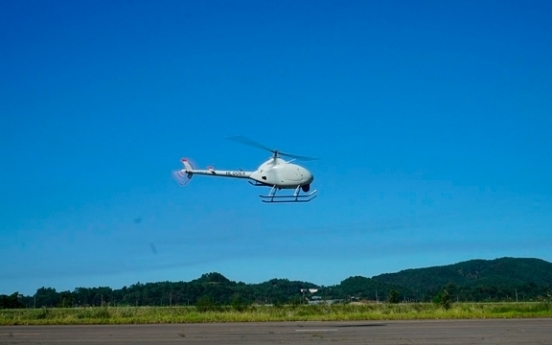 KAI's unmanned chopper succeeds in vertical take-off, landing