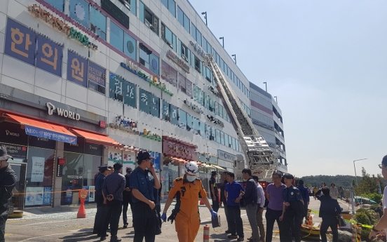 [From the scene] Gimpo nursing home fire leaves 2 dead, 47 injured
