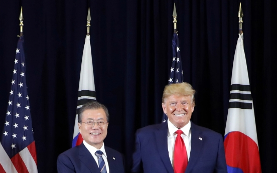 Moon leaves New York after talks with Trump, UN address