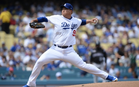 Dodgers' Ryu Hyun-jin clinches ERA title with 7 shutout innings in final reg. season start