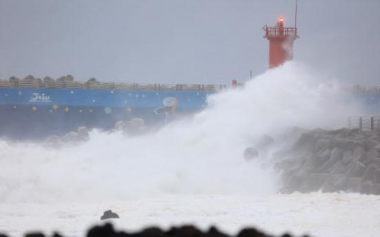 Typhoon Mitag batters Korea