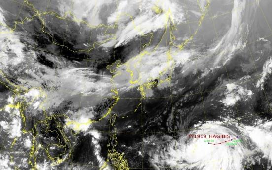 Typhoon Hagibis rapidly gains strength; impact on Korea uncertain