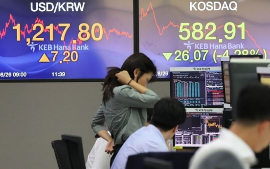 [News Focus] Korean stocks lag behind foreign rivals