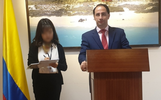 [Diplomatic circuit] Colombia eyes bolstering exports to S. Korea: trade minister